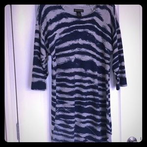🌹Asymmetrical Knit sweater blue gray size xl🌹